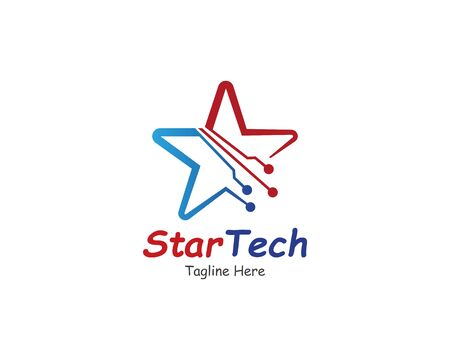 Star Technology logo symbol or icon template