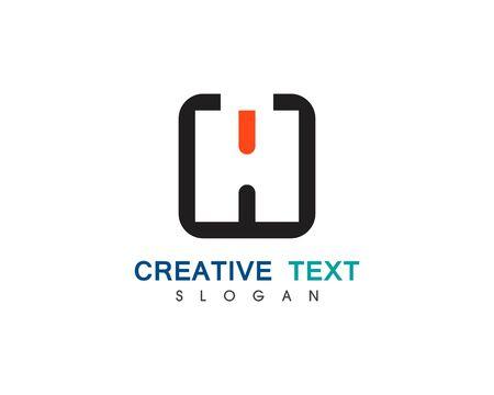 H Letter Logo Template Design Vector illustration Logo