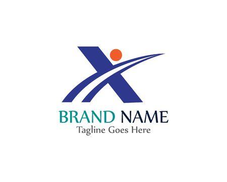 X Brief Logo Vorlage Vektor Icon Illustration Design template