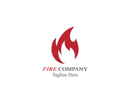 Fire Flame logo illustration vector design