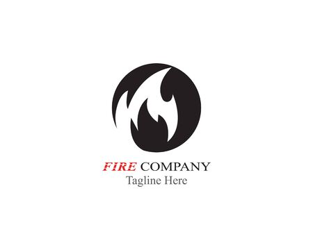 Fire flame logo template vector black