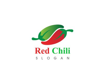 Red hot natural chili icon Template vector Illustration  イラスト・ベクター素材