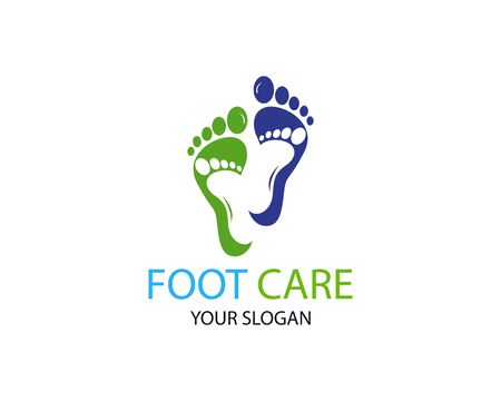 Foot care logo or icon template vector design Stock Vector - 129360397
