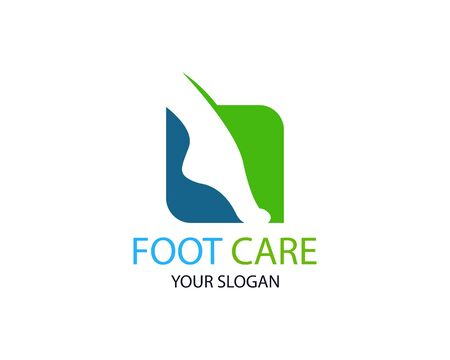 Foot care logo or icon template vector design Фото со стока - 129360421