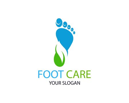 Foot care logo or icon template vector design Фото со стока - 129360415