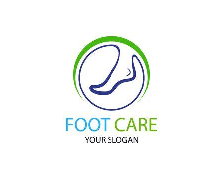 Foot care logo or icon template vector design