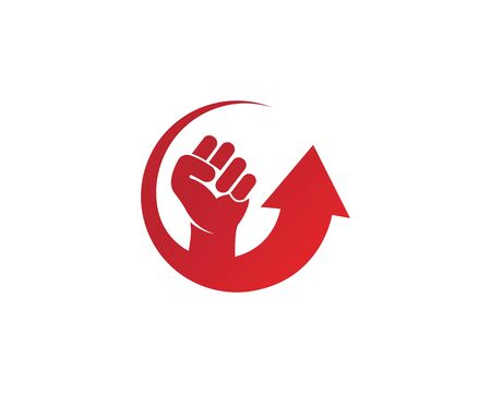 strong hand with arrow vector design concept