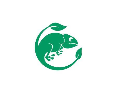 Lizard chameleon logo or icon template vector design