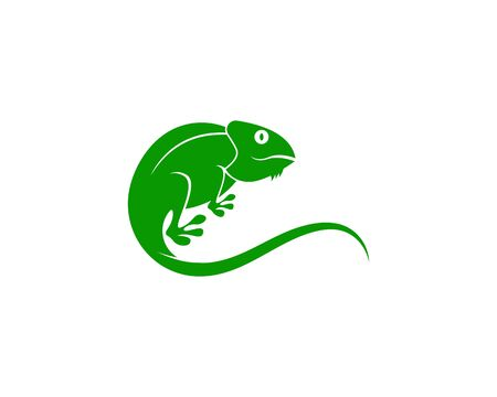 Lizard chameleon logo or icon template vector design