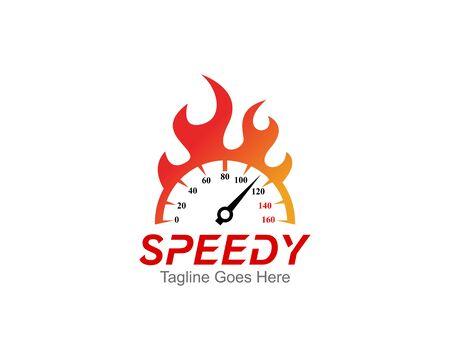 SpeedoMeter Logo Symbol Template Design Vector, Emblem, Design Concept, Creative Symbol, Icon