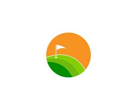 Golf Field logo template vector