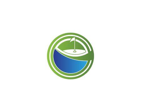 Golf Field icon logo template design