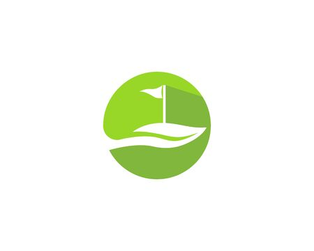 Golf Field logo template vector icon