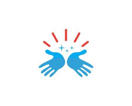 Handpflege-Loto-Vorlagen-Vektor-Design-Geschäft