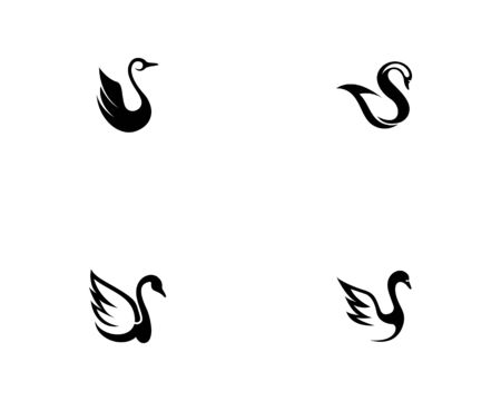 Swan option logo Template simple creative icon