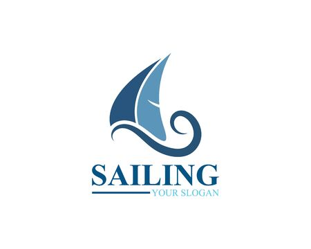 Sailing ship logo template vector icon illustration design 向量圖像