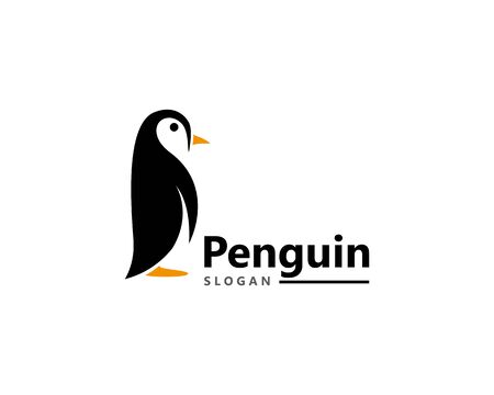 Penguin bird Logo Template vector icon illustration design Illustration