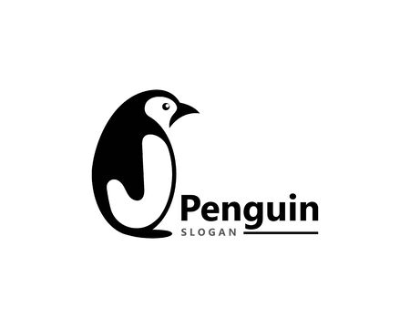 Penguin bird Logo Template vector icon illustration design Stock Illustratie