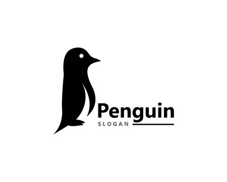 Penguin bird Logo Template vector icon illustration design Иллюстрация