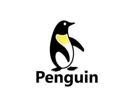 Penguin Logo Template vector icon illustration design