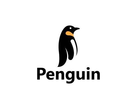 Pingouin Logo Template vecteur icône illustration design