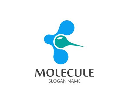 Molecule logo vector icon template Иллюстрация