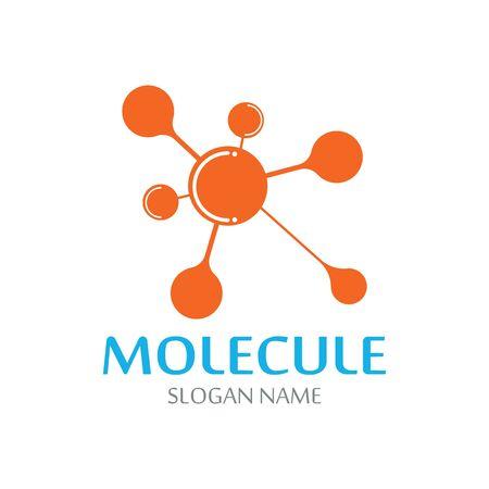 Vecteur de conception de technologie abstraite ADN molécule atome logo