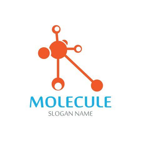 DNA Molecule atom logo abstract technology design vector Иллюстрация