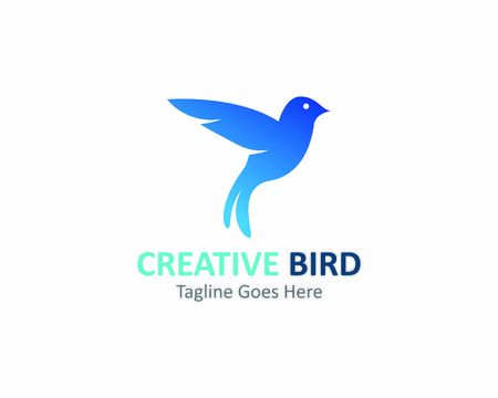Kreatywne projektowanie logo Ikona szablonu wektor ptak