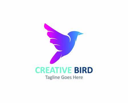 Logo design creativo Icona del modello di vettore dell'uccello