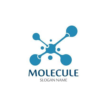 DNA Molecule atom logo abstract technology design vector Stock Illustratie