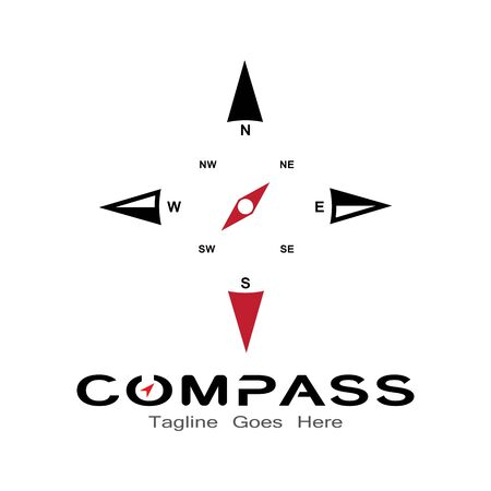 compass logo, icon and symbol. ilustration design template Banco de Imagens - 131772365