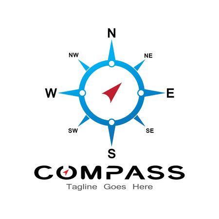 compass logo, icon and symbol. ilustration design template Banco de Imagens - 131772379