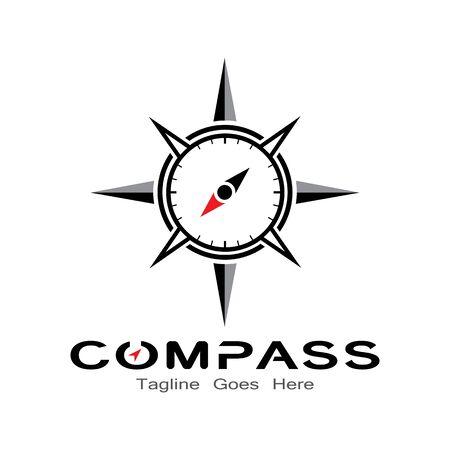 compass logo, icon and symbol. ilustration design template Banco de Imagens - 131772383