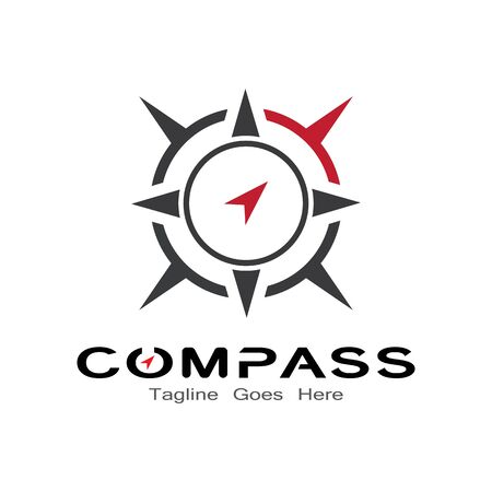 compass logo, icon and symbol. ilustration design template Banco de Imagens - 131772387