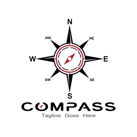 compass logo, icon and symbol. ilustration design template Banco de Imagens - 131772392