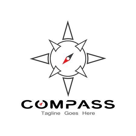 compass logo, icon and symbol. ilustration design template Banco de Imagens - 131772397