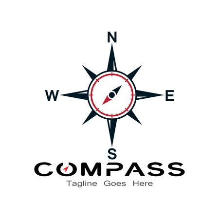compass logo, icon and symbol. ilustration design template Banco de Imagens - 131772418