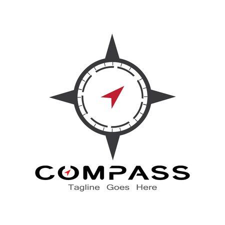 compass logo, icon and symbol. ilustration design template Banco de Imagens - 131772422
