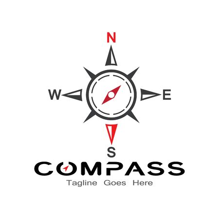 compass logo, icon and symbol. ilustration design template
