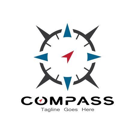 compass logo, icon and symbol. ilustration design template Banco de Imagens - 131772431