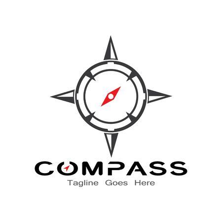 compass logo, icon and symbol. ilustration design template Banco de Imagens - 131772429