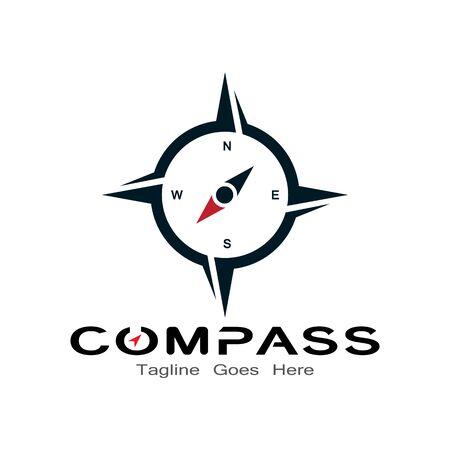 compass logo, icon and symbol. ilustration design template Banco de Imagens - 131772428