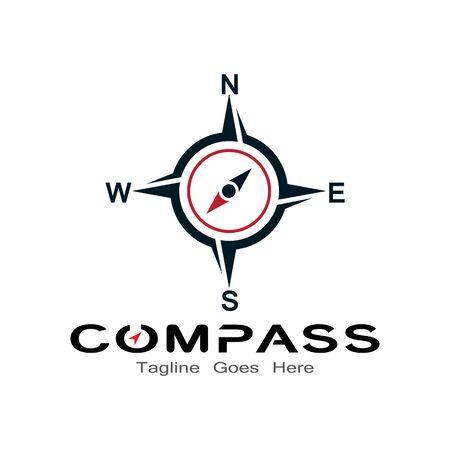compass logo, icon and symbol. ilustration design template Banco de Imagens - 131772437