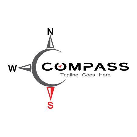 compass logo, icon and symbol. ilustration design template Banco de Imagens - 131772442