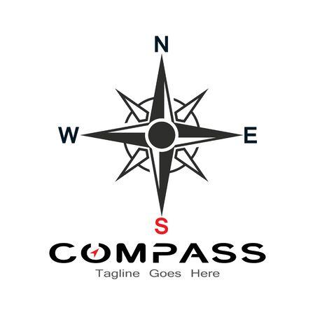 compass logo, icon and symbol. ilustration design template Banco de Imagens - 131772441