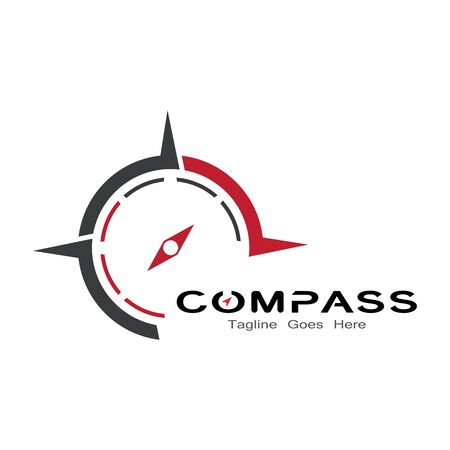compass logo, icon and symbol. ilustration design template