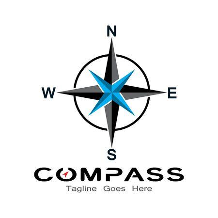 Kompass-Logo, Symbol und Symbol. Illustrationsdesignvorlage Logo