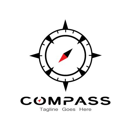 compass logo, icon and symbol. ilustration design template Banco de Imagens - 131772449