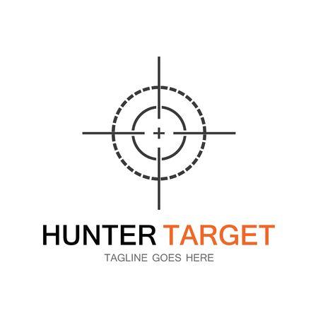 Target hunter icon vector illustration template design